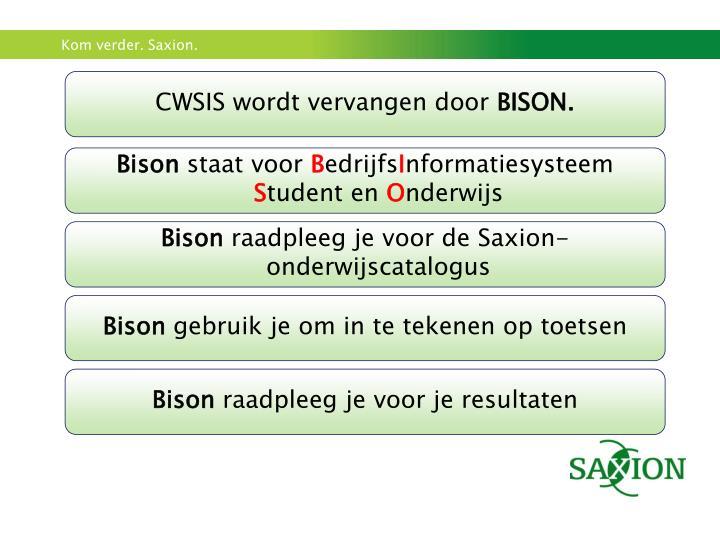 CWSIS wordt vervangen door