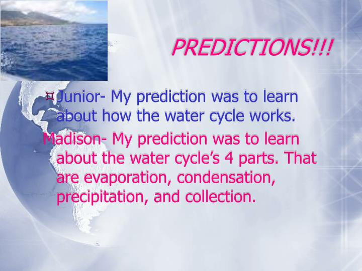 Predictions