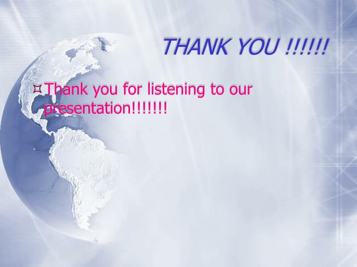 THANK YOU !!!!!!