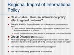 regional impact of international policy