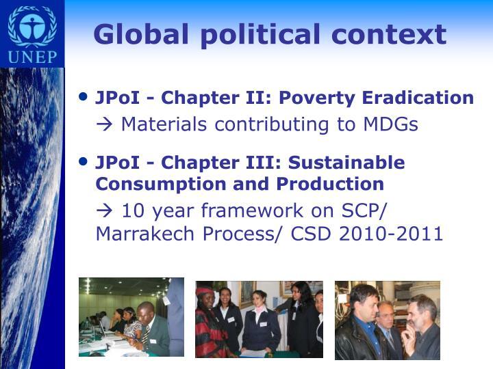 Global political context
