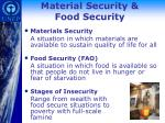 material security food security