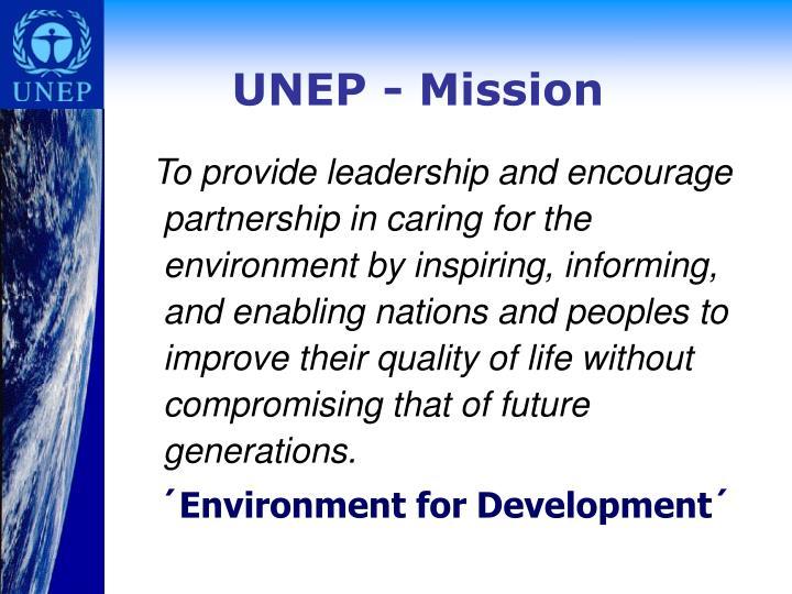UNEP - Mission