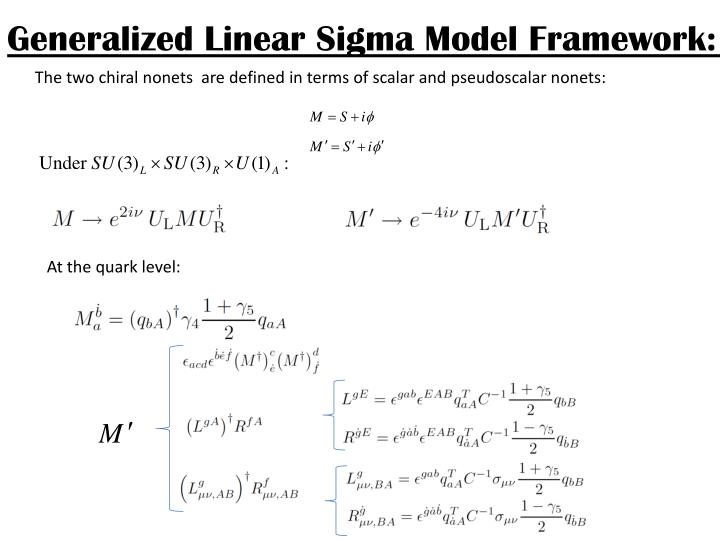 Generalized Linear Sigma Model Framework: