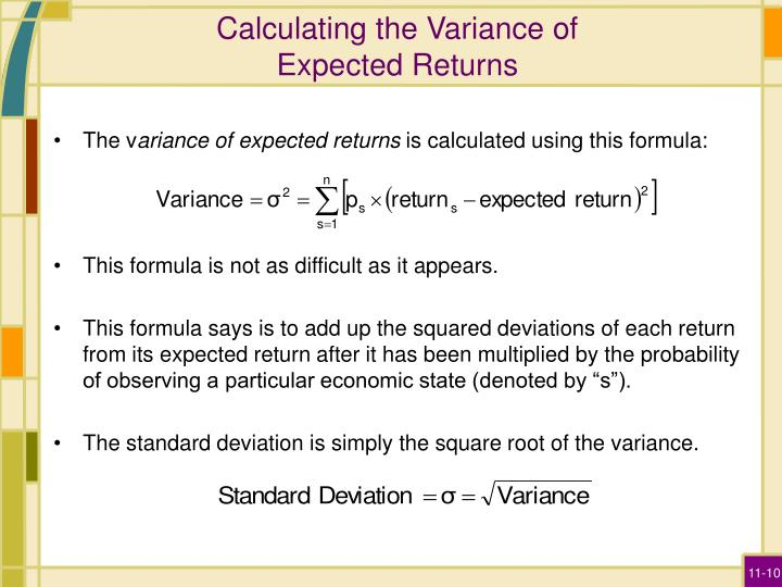 Calculating the Variance of