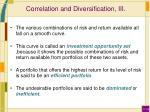 correlation and diversification iii