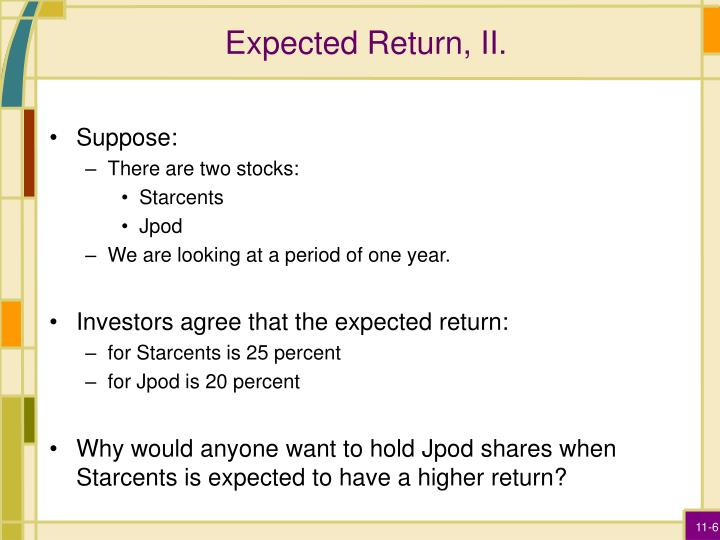 Expected Return, II.