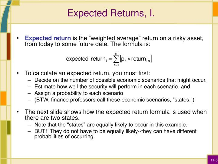 Expected Returns, I.
