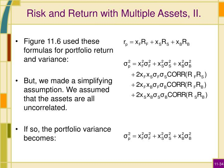 Risk and Return with Multiple Assets, II.