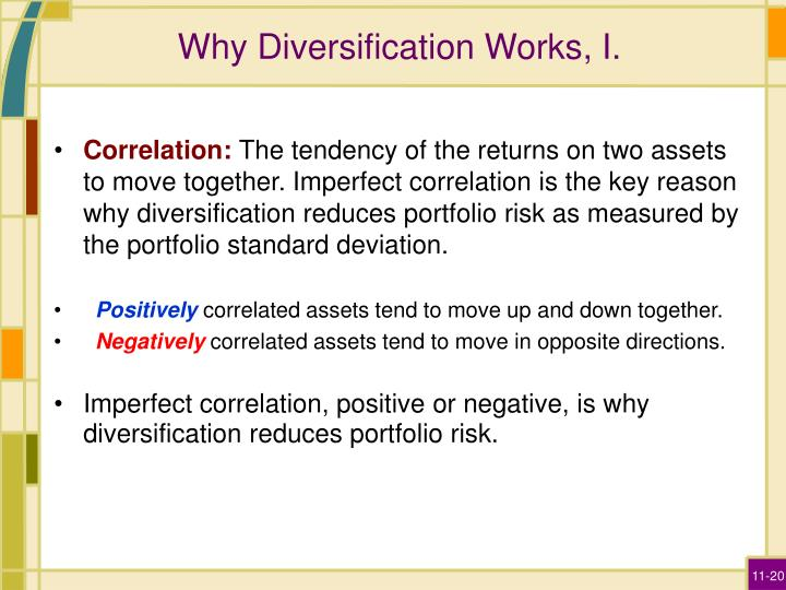 Why Diversification Works, I.