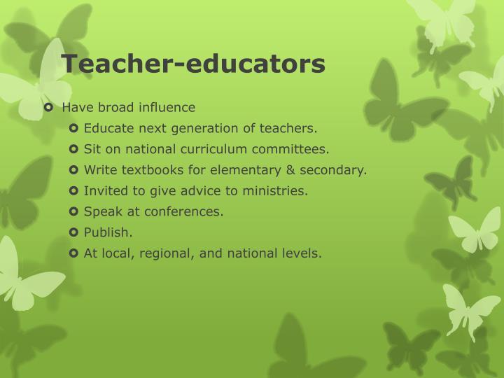 Teacher-educators