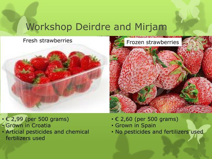 Workshop Deirdre and Mirjam