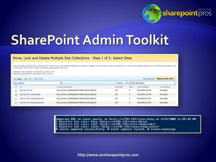 SharePoint Admin Toolkit