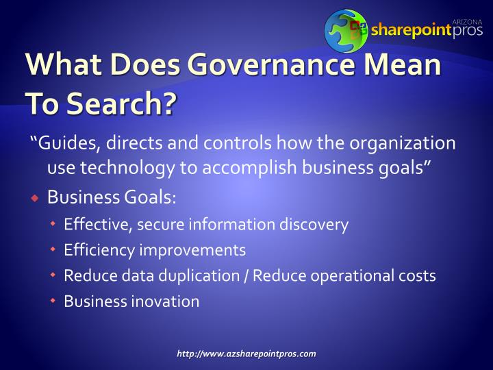 What Does Governance Mean To Search?