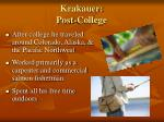 krakauer post college