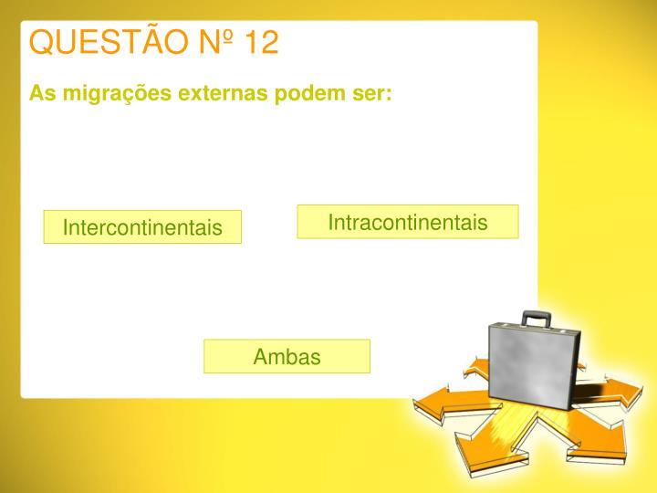QUESTÃO Nº 12