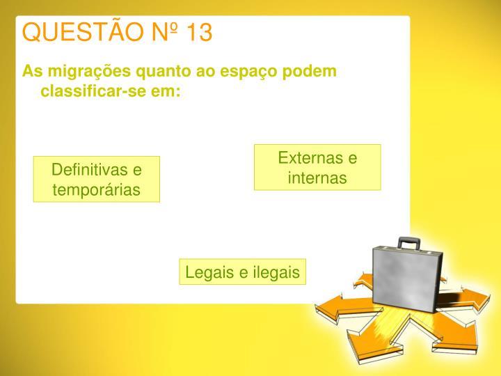 QUESTÃO Nº 13
