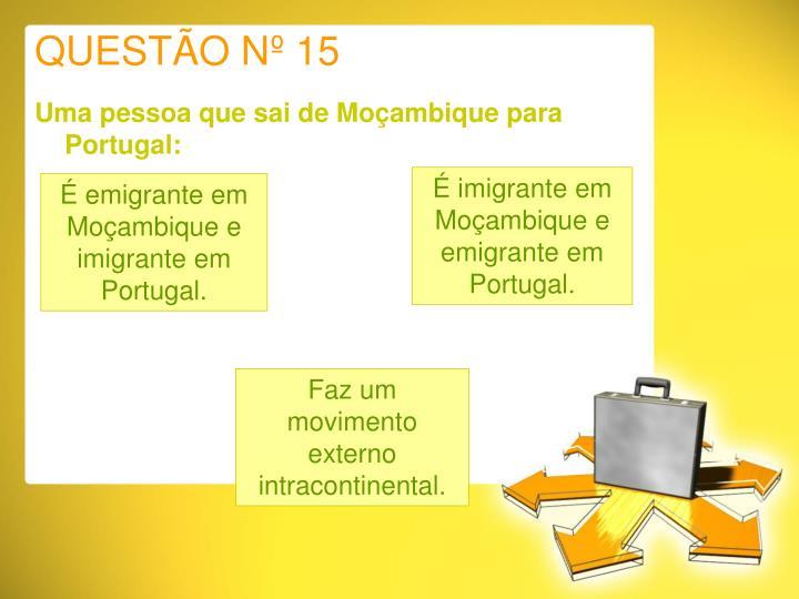 QUESTÃO Nº 15