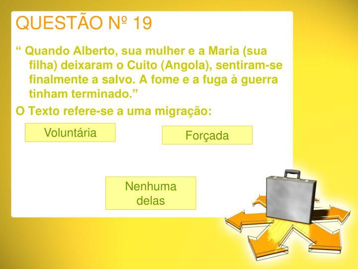 QUESTÃO Nº 19
