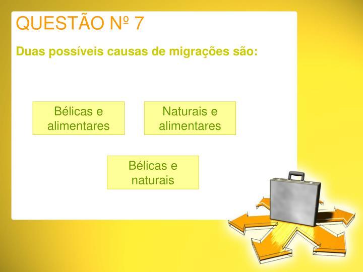 QUESTÃO Nº 7