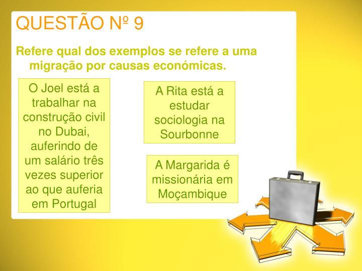 QUESTÃO Nº 9
