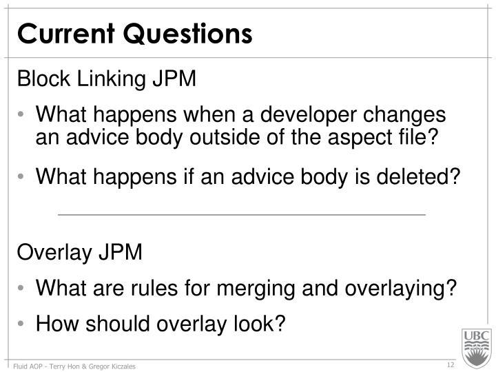 Current Questions