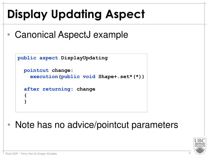 Display Updating Aspect