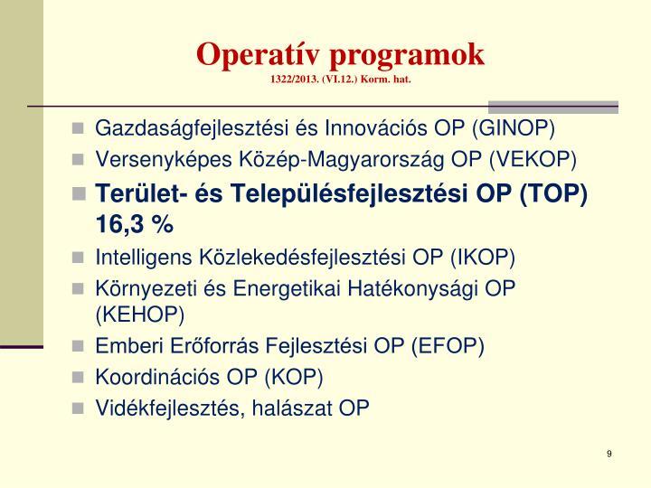 Operatív programok