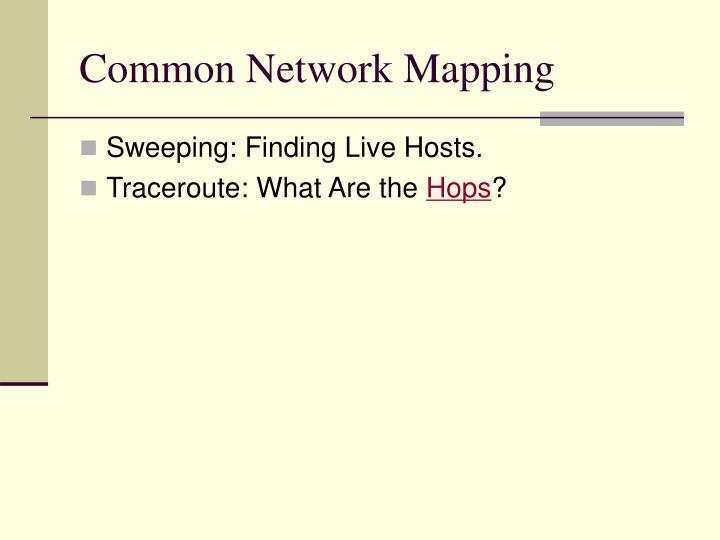 Common Network Mapping
