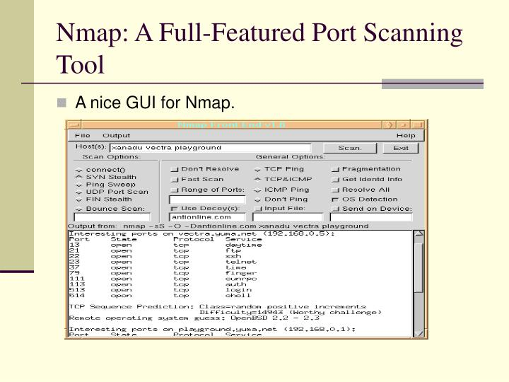 Nmap: A Full-Featured Port Scanning Tool