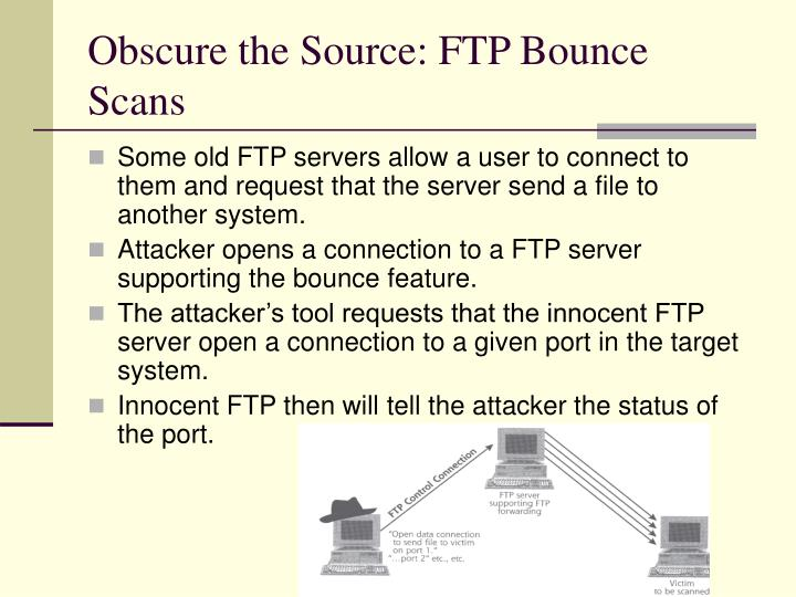 Obscure the Source: FTP Bounce Scans