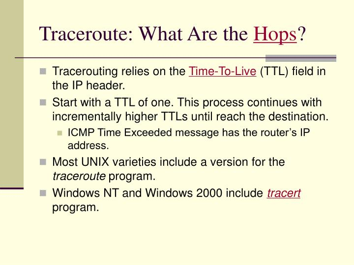 Traceroute: What Are the