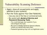 vulnerability scanning defenses