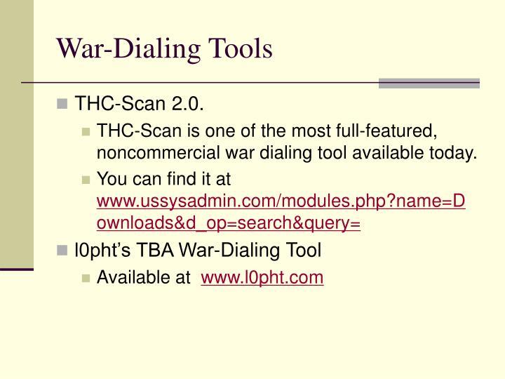 War-Dialing Tools