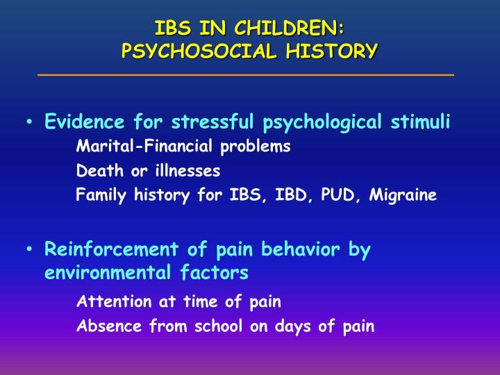IBS IN CHILDREN:
