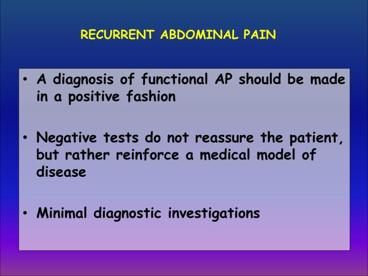 RECURRENT ABDOMINAL PAIN