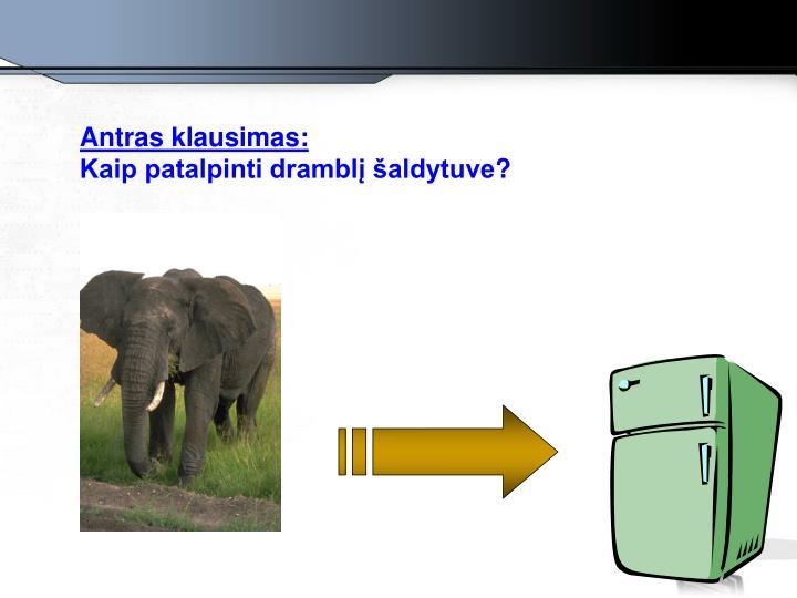 Antras klausimas