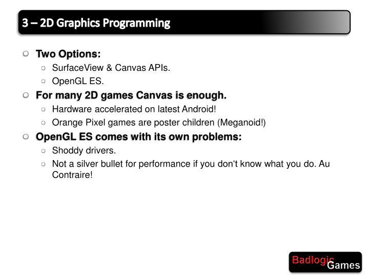 3 – 2D Graphics Programming