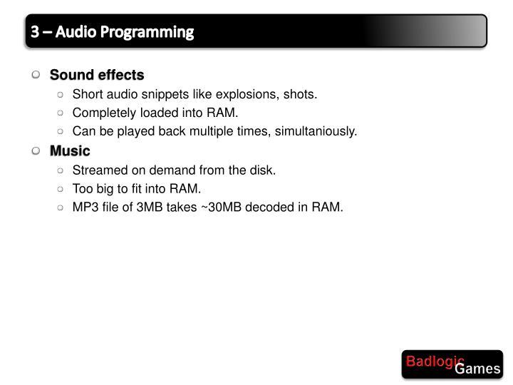 3 – Audio Programming