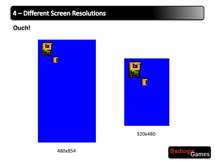 4 – Different Screen
