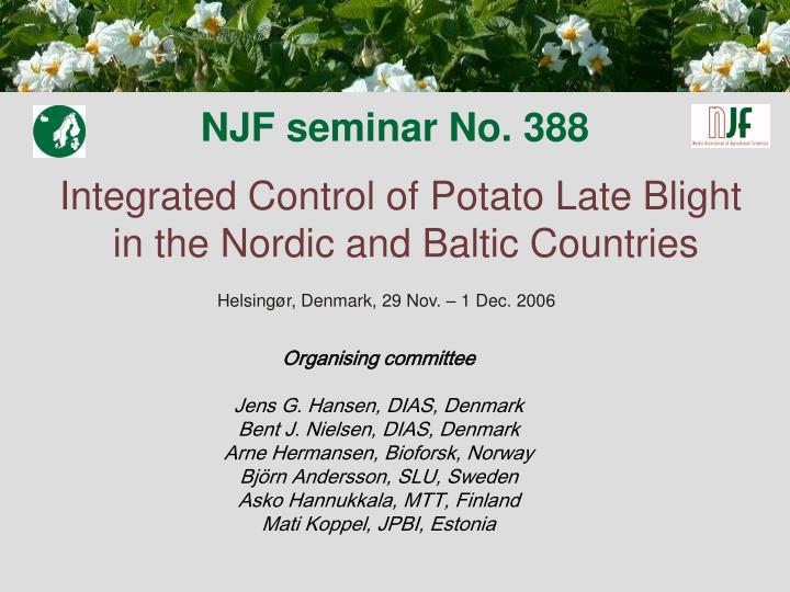 NJF seminar No. 388