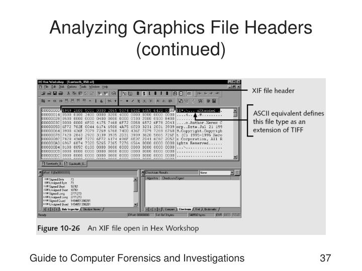 Analyzing Graphics File Headers (continued)