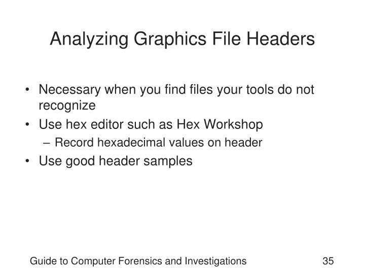 Analyzing Graphics File Headers