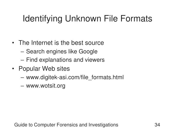 Identifying Unknown File Formats