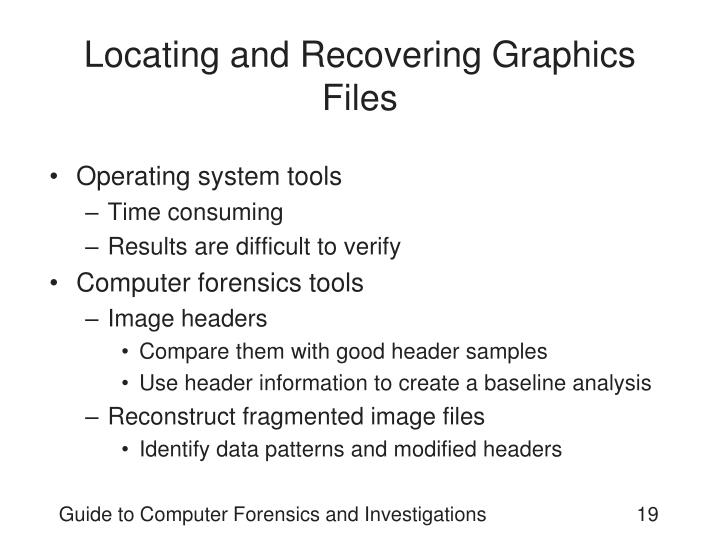 Locating and Recovering Graphics Files