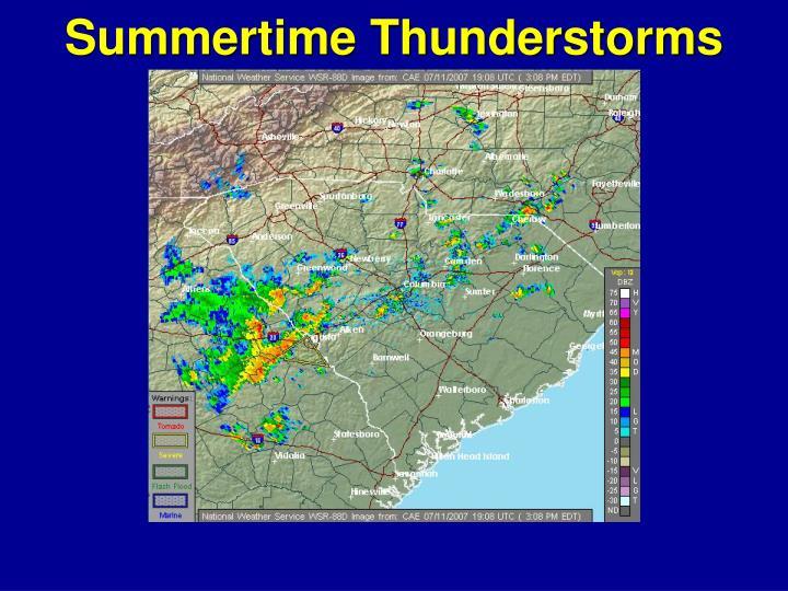 Summertime Thunderstorms