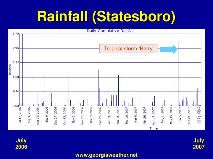 Rainfall (Statesboro)