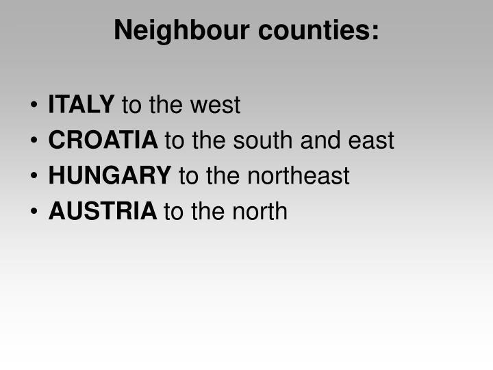 Neighbour counties: