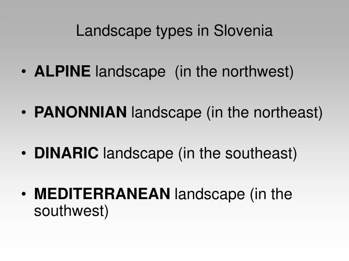 Landscape types in Slovenia