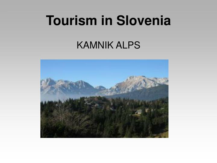 Tourism in Slovenia